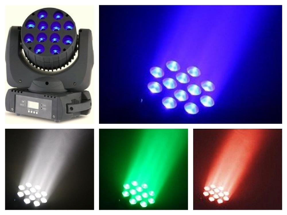 4pcs / lot, Cree Moving head LED beam 12x10w RGBW 4 in 1 Quad Light dmx მუსიკალური შოუს კონცერტი ktv dj klub bar party Stage Lighting