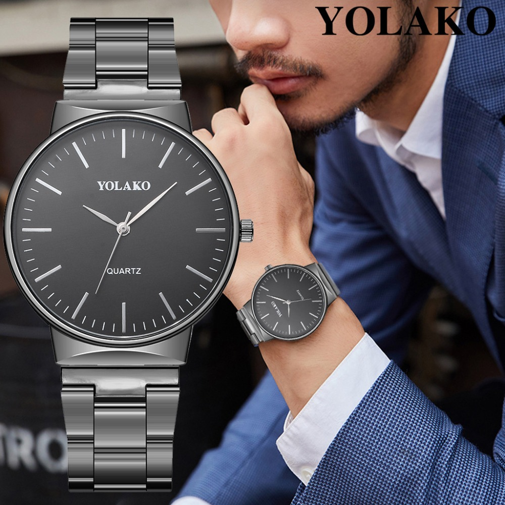 Fashion Men Crystal Stainless Steel Analog Quartz Wrist Watch Bracelet Men Watch Stainless Steel Mesh Wristwatch Mens Automatic