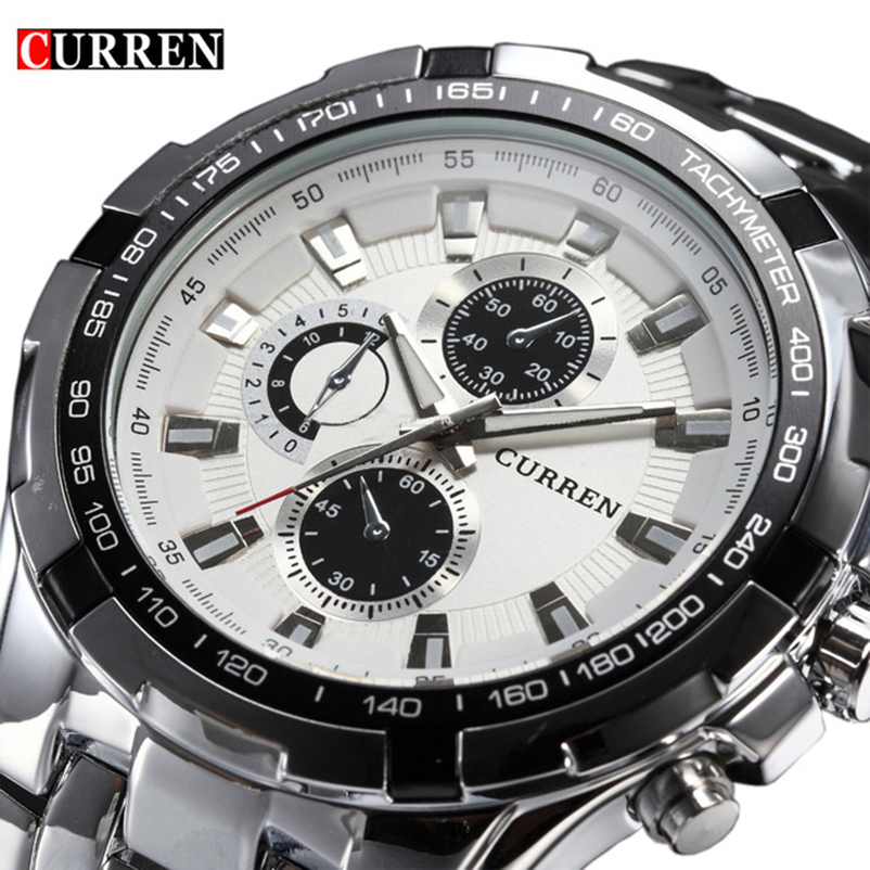 Curren Military Sport Mens Watches Top Brand Luxury Stainless Steel Quartz Men Watch Male Fashion Casual Clock Relogio Masculino relogio masculino curren watch men luxury stainless steel brand analog quartz watches casual sport waterproof clock mens watches