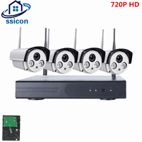 SSICON Plug And Play 720P 4CH Waterproof Wireless CCTV System 1MP Outdoor P2P IP Security Camera
