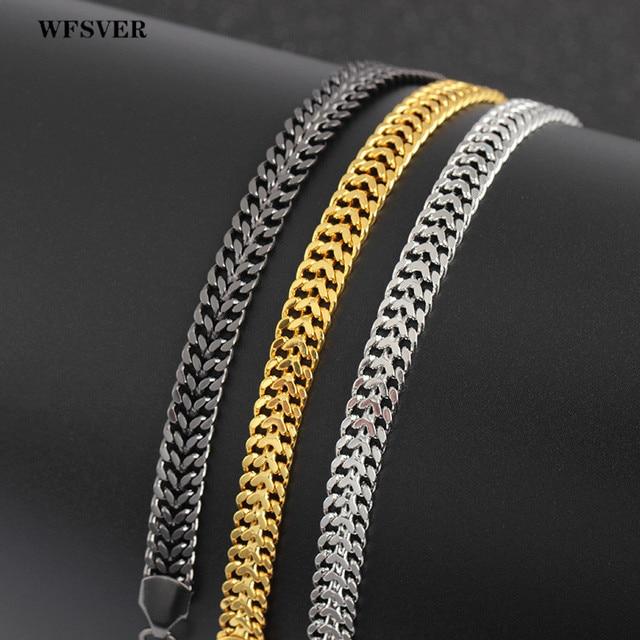 WFSVER wielu warstwa węża łańcuch ze stali nierdzewnej bransoletka bransoletka z kryształ koralik bransoletka charms dla kobiet moda biżuteria