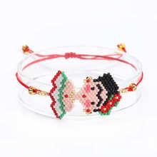 3e9cbb3d431e Go2boho Frida Pulseras MIYUKI pulsera de la joyería de mexicano Frida  bandera Pulseras Delica perlas hecho a mano tejido de rega.
