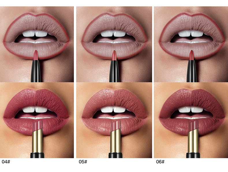 New PUDAIER Brand 16 Color Double Ended Nude Lasting Waterproof Lip Liner And Matte Lipstick Nude Dark Red Lips Liner Pencils (4)