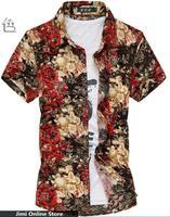 M 7xl Men Shirt Good Quality Summer Shirt Strech Silk Cotton Shirt Big Size 6xl 5xl