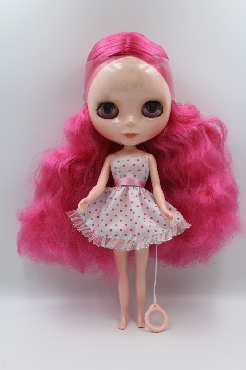 Free Shipping big discount RBL1-5DIY Nude Blyth doll birthday gift for girl 4 colour big eyes dolls with beautiful Hair cute toy