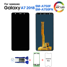 Ban đầu Cho Samsung A7 2018 A750 SM A750F Màn Hình Hiển Thị Màn Hình LCD thay thế cho Samsung A7 2018 A750FN Màn hình hiển thị màn hình LCD màn hình Module