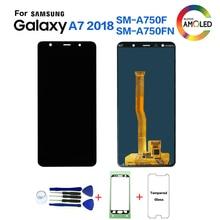 Original Für Samsung A7 2018 A750 SM A750F Display lcd Bildschirm ersatz für Samsung A7 2018 A750FN display lcd screen modul