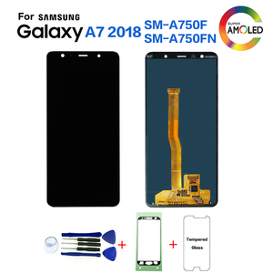 Image 1 - Original For Samsung A7 2018 A750 SM A750F Display lcd Screen replacement for Samsung A7 2018 A750FN display lcd screen module
