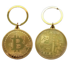 Gold Plated Bitcoin Coin Collectible Art Collection Gift Physical commemorative Casascius Bit BTC Metal