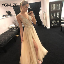 YGMJZB Evening Dresses 2019 A-Line Prom Dress Party Dress