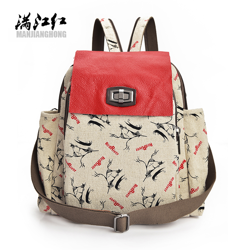 Backpack Women Canvas With Leather Bag Women Bags Cow Women Backpack Mochila Feminina School Bags for Teenagers Free Shipping miwind new backpack women school bags for teenagers mochila feminina women bag free shipping leather bags women leather backpack