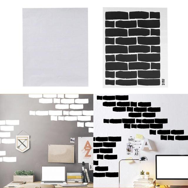 Black White Brick Wall Stickers