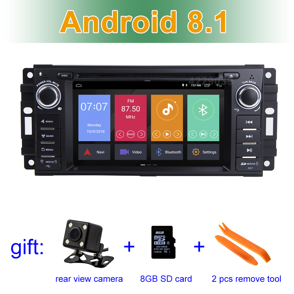 Excellent Android 8.1 Car DVD Player for JEEP COMMANDER/GRAND CHEROKEE  with Radio WiFi 0