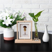 Nordic Home Desktop Decoration Set Double-Sided Rotating Ins Photo Frame Hydroponic Plant Stereo Art Photo Frame Decor Ornaments(China)