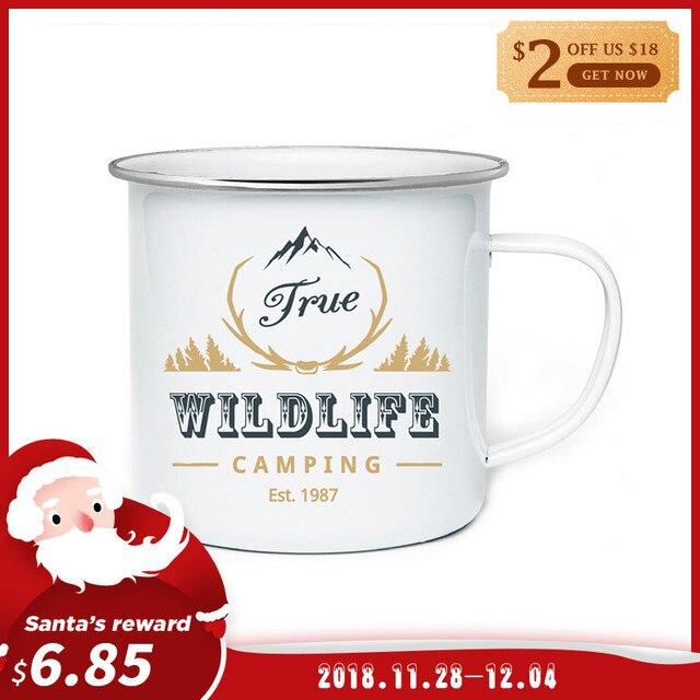 diy 350ml enamel mugs coffee mug tea cup letter novelty cups and mugs brief tumbler enamel