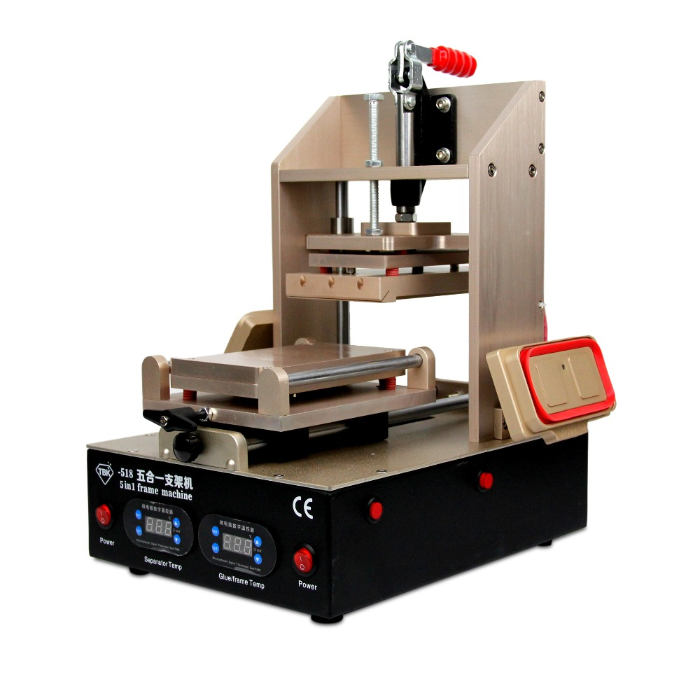 5 in 1 Machine For Samsung Middle Bezel Splite + For iPhone Frame Laminating + Vacuum Pump LCD Screen Separator + Glue Remover