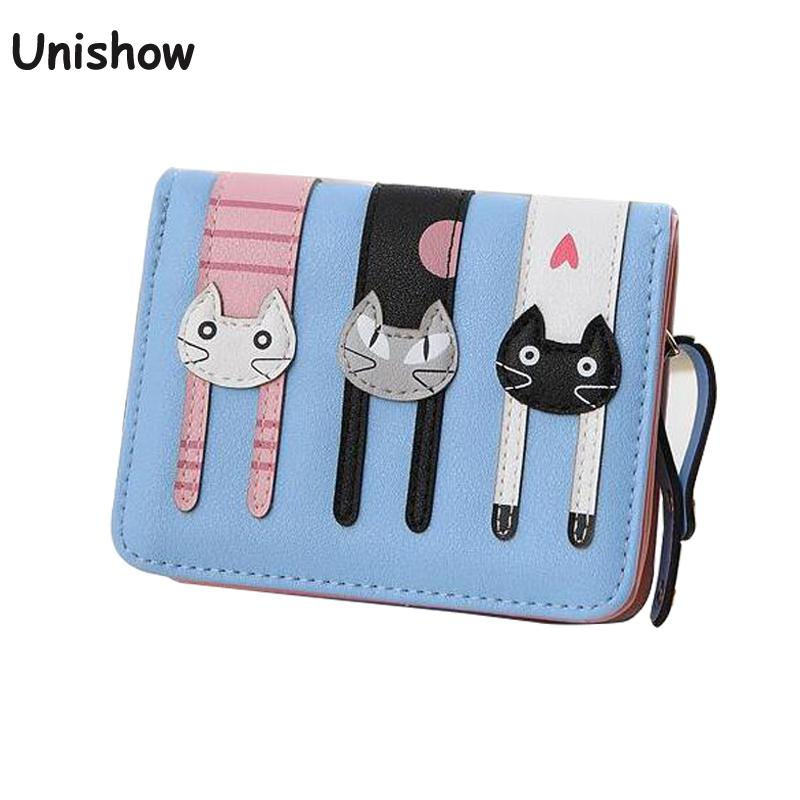 Lovely cute cat wallet small zipper coin purse fashion new girl wallet with card holders short pattern designed women wallet футболка print bar ford mustang shelby gt500 [шредер] page 2