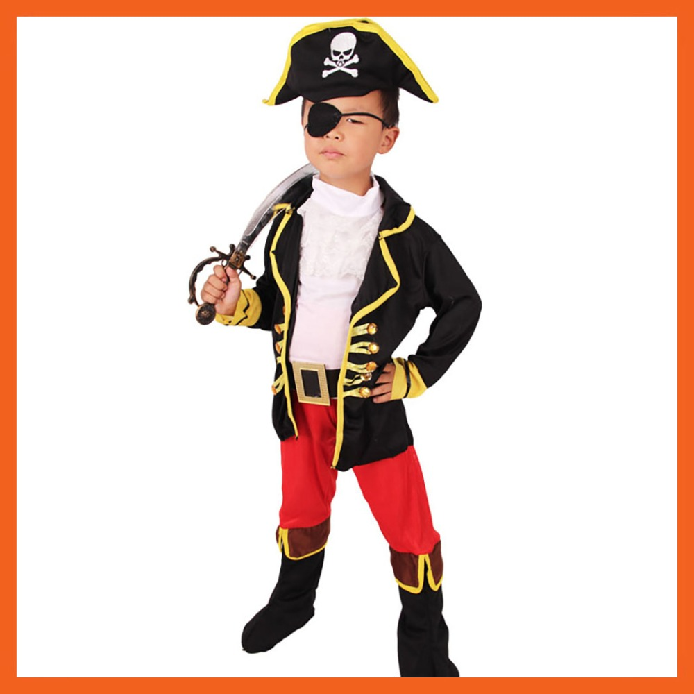 2017 factory direct selling jack sparrow kids boys pirate costumes halloween cosplay costumes for kids - Jack Sparrow Halloween Costumes