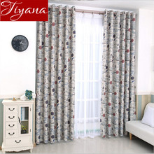 European Vintage Print Voile Curtains Navigation Ship Window Living Room Bedroom Tulle Drapes Fabrics Rideaux