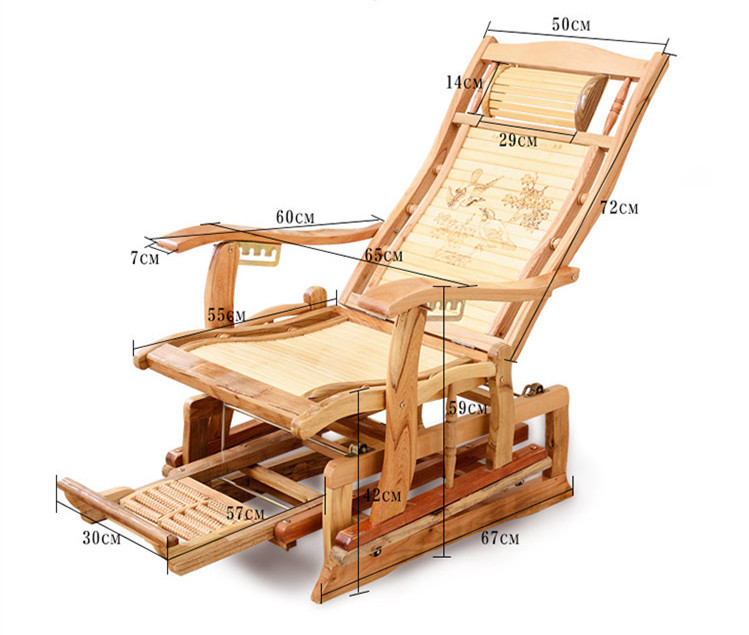 Modern Rocking Chair Bamboo Furniture Outdoor/Indoor Rocker Reclining Back  Recliner Mechanical Bamboo Rocking Chairs Cushions In Living Room Chairs  From ...