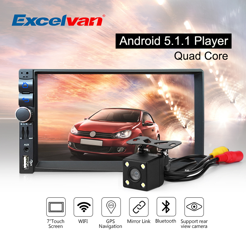 Prix pour Voiture Lecteur Multimédia Android 5.1.1 Quad Core 7 ''Écran Tactile Bluetooth A2DP GPS Stéréo Radio Audio MP3 MP4 Lecteur 3G/FM/AM/USB/SD