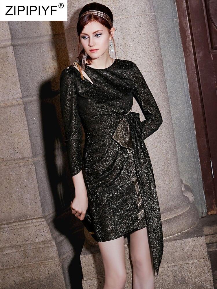 Automne Nouvelle Gold Or Couleur Nu Hiver Black Élégant Robes Q133 Noir Femmes Crayon Dos Robe Vintage Moulante 7gyI6vmfYb