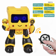 Jjrc R17 Kaqi-toto 2.4g Intelligent Remote Control Robot Advisor Rc Robot Toy Coin Bank Gift For Kids 2018 new intelligent cady wigi jjrc r6 remote control programmable dancing usb rc robot t vader stormtrooper model toy for kids