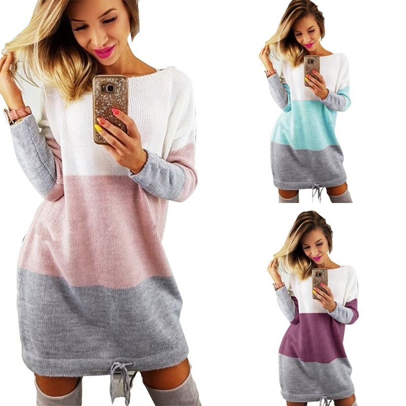 Maternity Sweaters Fashion Spelling Long Sleeve Sweater Dress For Pregnant Women European Pregnancy Warm Clothes Winter Pullover
