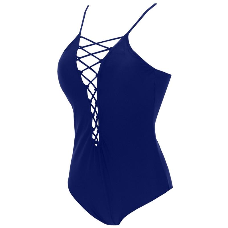 KayVis One Piece Swimsuit 2017 Sexy Swimwear Women Bathing Suit Swim Vintage Summer Bodaysuit Print Bandage Monokini Swimsuit