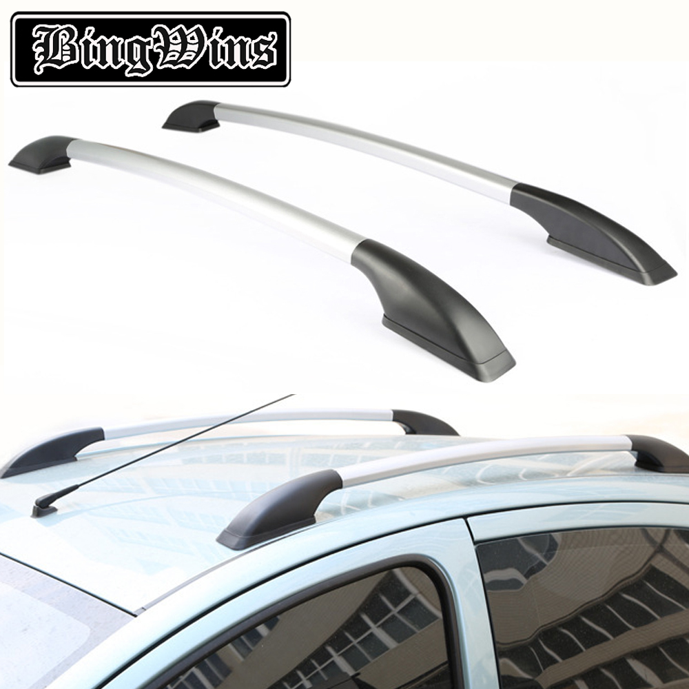 car styling for Hyundai IX35 car roof rack aluminum alloy luggage rack punch Free 1.4 meters car styling auto roof rack side rails bars baggage holder luggage carrier aluminum alloy for ford escape kuga 2013 2014 2015