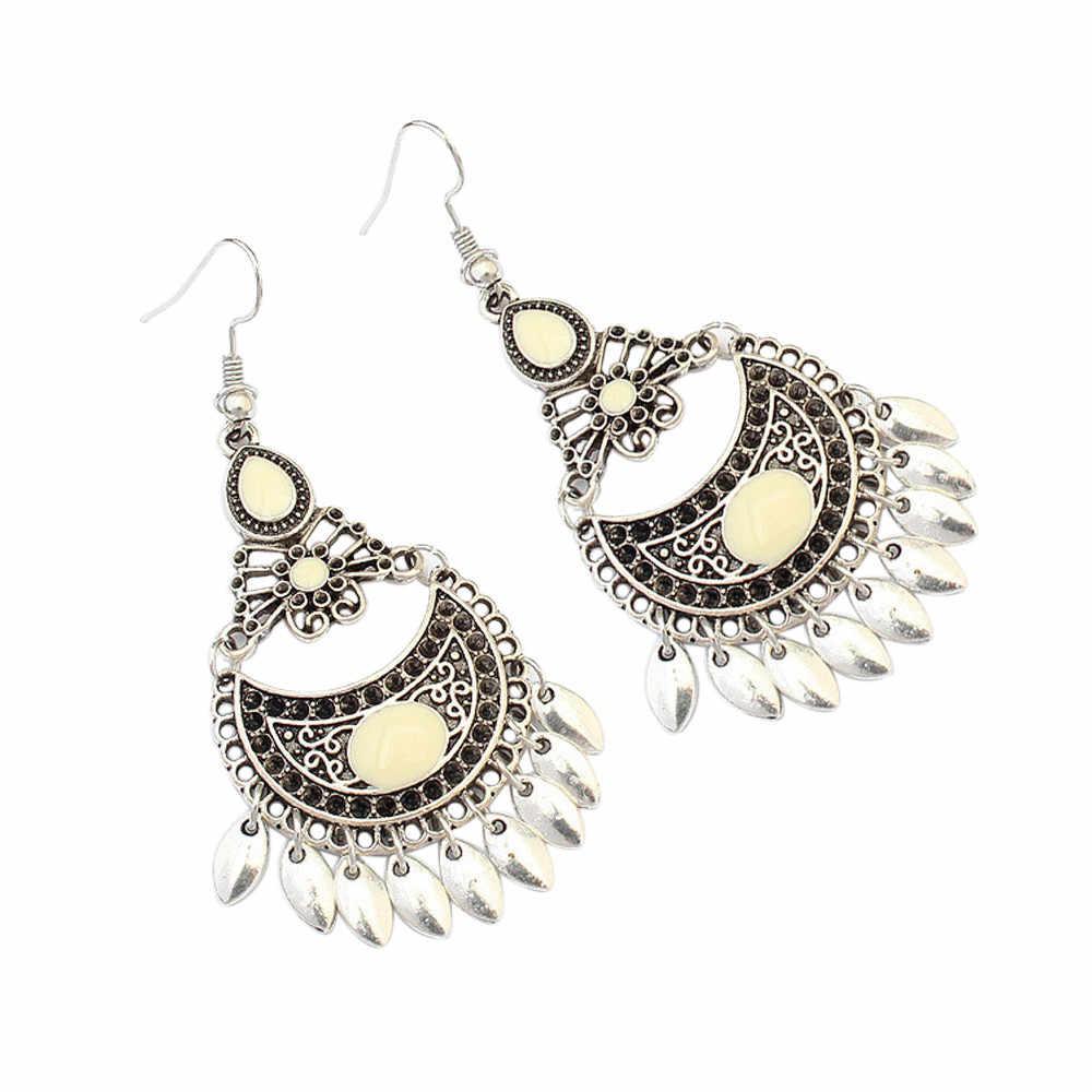 2018 Fashion Bohemian Long Earrings Unique Natural Real Leaf Big Earrings For Women Jewelry Gift oorbellen pendientes mujer mod