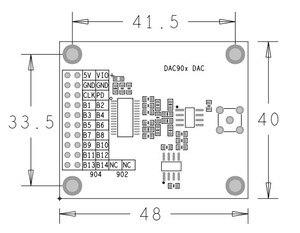 Image 2 - Módulo de conversión digital a analógico de alta velocidad, DAC902, 12 bits, DAC904, 14 bits, 165MSPS
