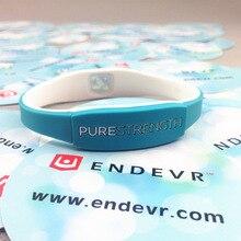 1pcs/lot top quality PURE STRENGTH silicone energy wristband rubber power bangle balance sports bracelet
