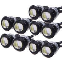 10 X 9W LED Eagle Eye Light Car Fog DRL Daytime Reverse Backup Parking Signal