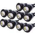 10X9 W 18mm 12 V 24 V LED White Eagle Eye Car Light Fog DRL Daytime Reversa Sinal De Estacionamento de Backup