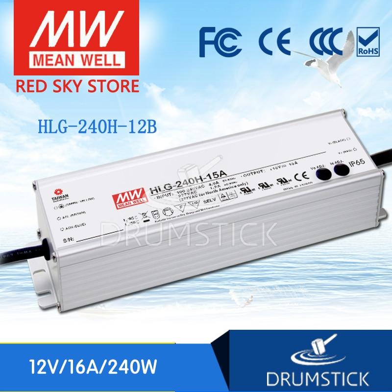 цена на MEAN WELL HLG-240H-12B 12V 16A meanwell HLG-240H 12V 192W Single Output LED Driver Power Supply B type