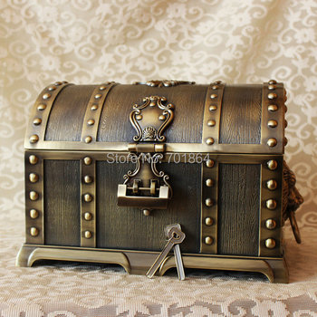 Caribbean Treasure Box Chest Vintage Home Decor
