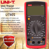 UNI T UT601 Inductive Capacitance Meter, Resistor / Capacitor / Diode / Transistor Test On Off Beep Low Voltage Display