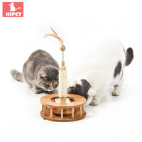 PETKITTY wood pet cat toy scratching post Natural sisal Mat toy for cat catnip tower climbing with ball Interactive Toy