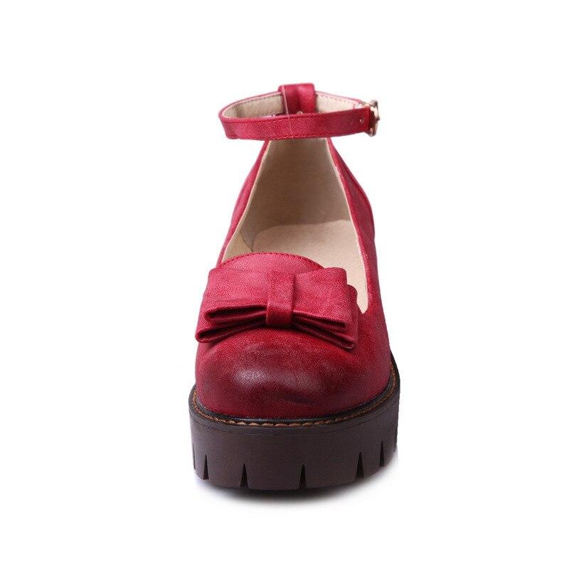 Bombas 2018 rojo Venta Moda Otoño Zapatos De Señora Simple Mujeres amarillo Novedad Tacón Moonmeek Bowknot Gris Primavera Alto Hebilla Caliente dwqUd0A