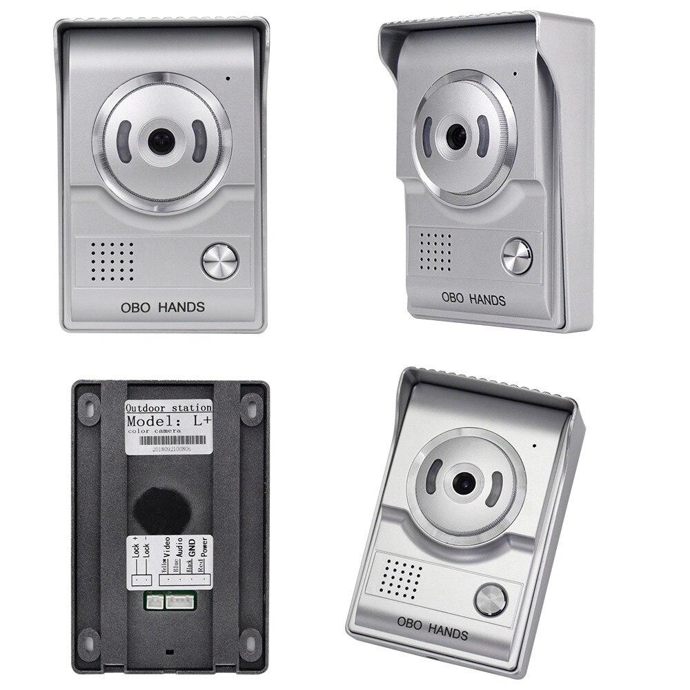 """Image 5 - Видео дверной звонок 7 """"цветной экран с водонепроницаемой наружной камерой двухстороннее аудио ночное видение для домашней системы внутренней связи-in Видеодомофон from Безопасность и защита"""