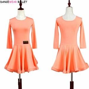 Image 5 - Vestido de baile de salón para niñas, vals, Tango, traje de baile latino, Salsa Bachata