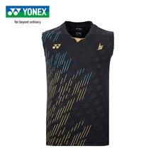 Новое поступление Yonex Yy кофта для бадминтона Lin Dan стиль спортивные дышащие футболки без рукавов для мужчин 10322 ldcr