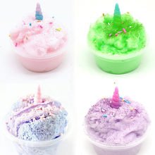 DIY Clear Slime Toys Mud Mixing Cloud Fluffy Floam Slime Putty Scented Stress Clay Sludge Toy For Christmas Gift Dropshipping(China)