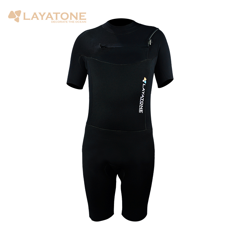 Layatone 3mm Neoprene Wetsuit Mens Short Sleeve Surfing  Scuba Diving Bathing Suit Snorkeling kayaking Swimming Shorty Jumpsuit