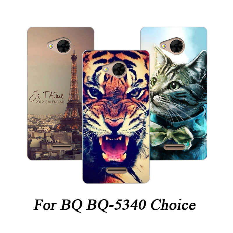 Soft Tpu Phone Case For BQ BQ-5340 Choice Cases Silicone Painted Wolf Rose Eiffel Fundas Sheer For BQ BQ-5340 Choice Back Cover