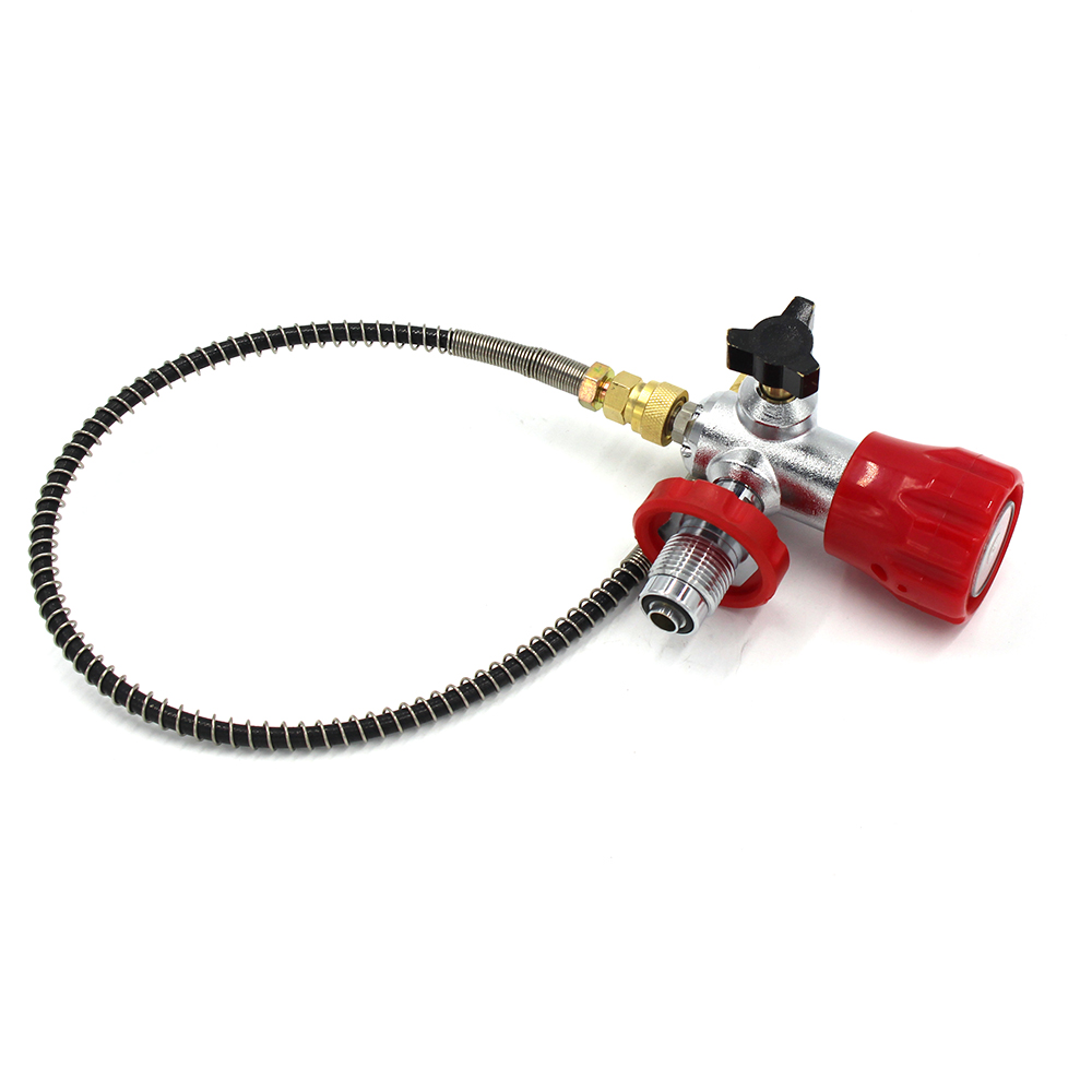 PCP Scuba Diving Valve CO2 Upgraded Filling Station For Carbon Fiber Cylinder Air Inflation To Small HPA Tank Refill Adapter