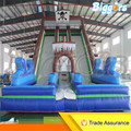 Free Shipping By Sea Inflatable Double Lane Giant Jumping Trampoline Slide With Blowers