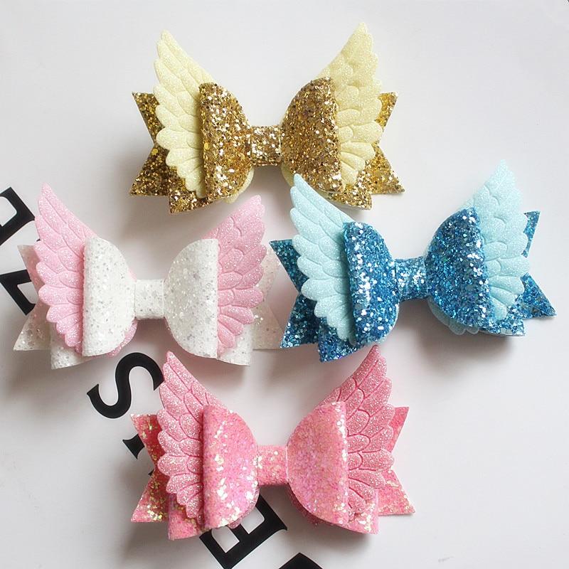 6pcs set glitter fly angle wings