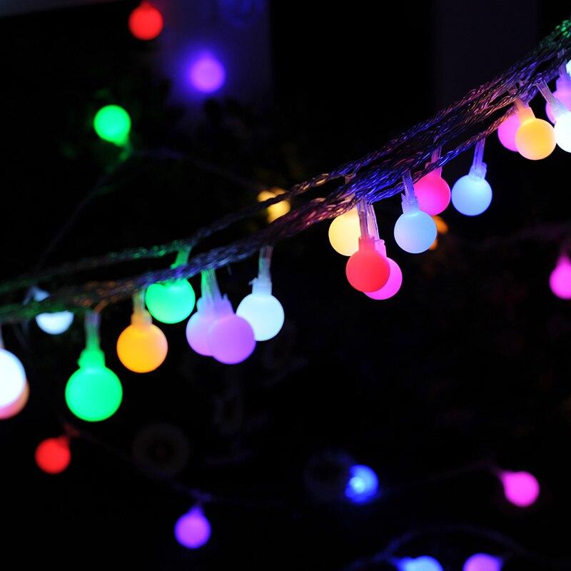 Globe String Lights 100 LEDs Colored Fairy Lights 8 Lighting Mode Waterproof Plug in String Lights